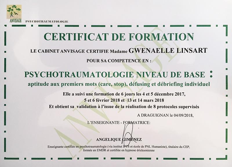 Certificat psychotraumatologie Pontivy